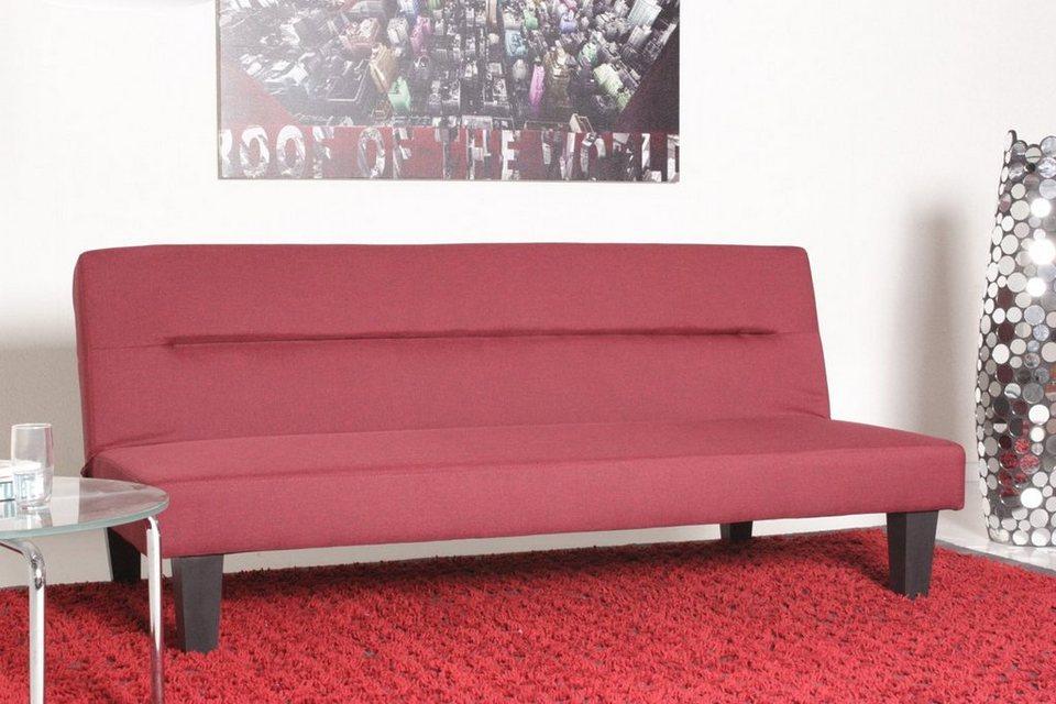 Kasper wohndesign schlafsofa stoff matratze 180x110cm for Schlafsofa 180 cm lang
