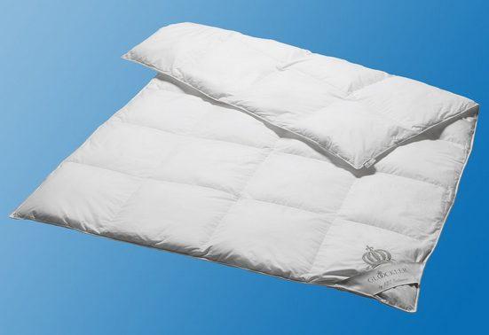 Daunenbettdecke, »Platin«, GLÖÖCKLER by KBT Bettwaren, warm, Füllung: 60% Daunen, 40% Federn, Bezug: 100% Baumwolle, (1-tlg)