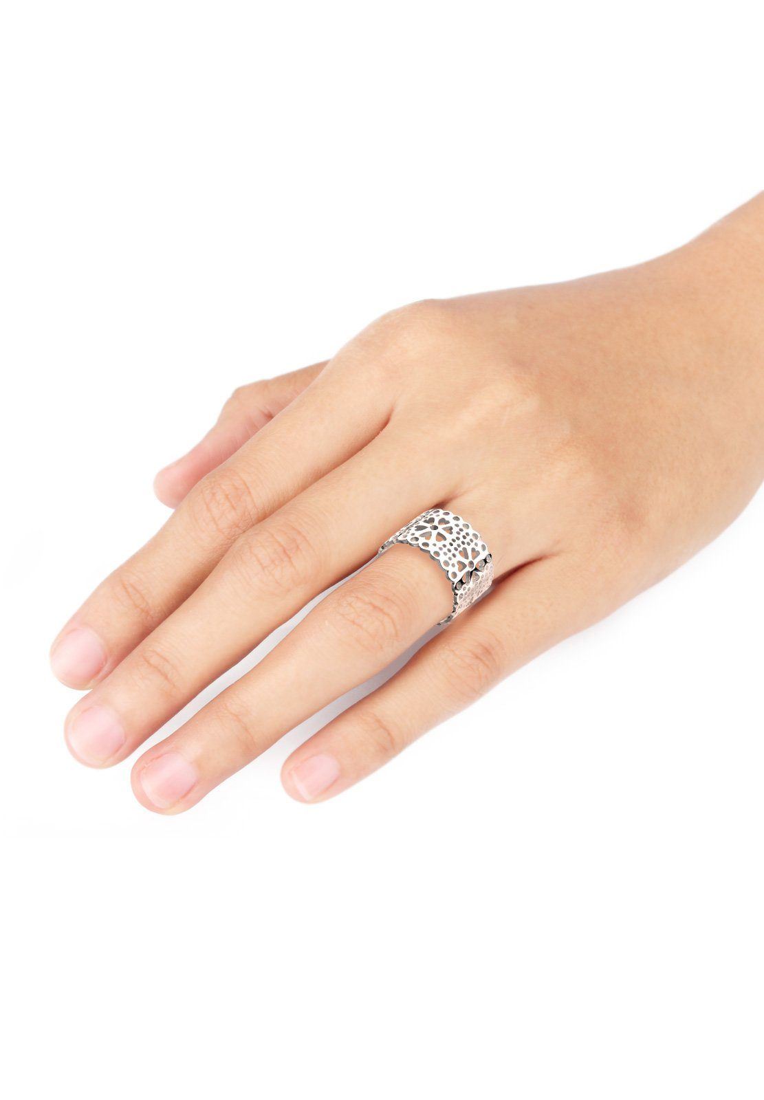 Elli Ring 925 Silber« Cut »blume Ornament Out 45jL3ARq