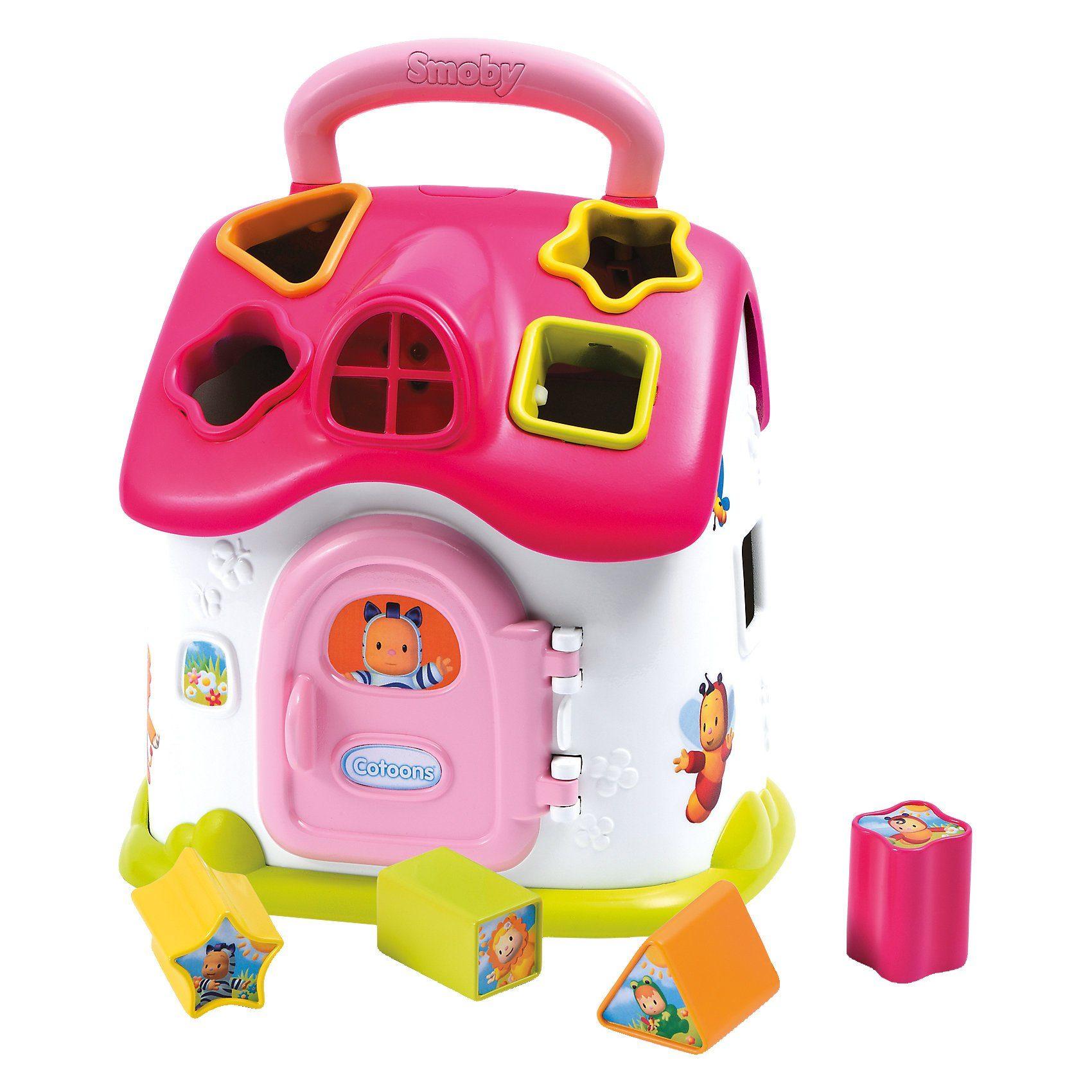 Smoby Cotoons Elektrisches Steckspielhaus, rosa