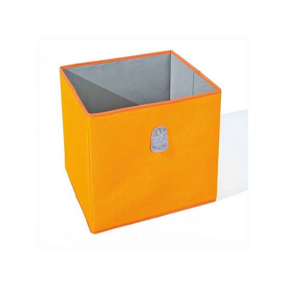 inter link aufbewahrungsbox orange grau kaufen otto. Black Bedroom Furniture Sets. Home Design Ideas