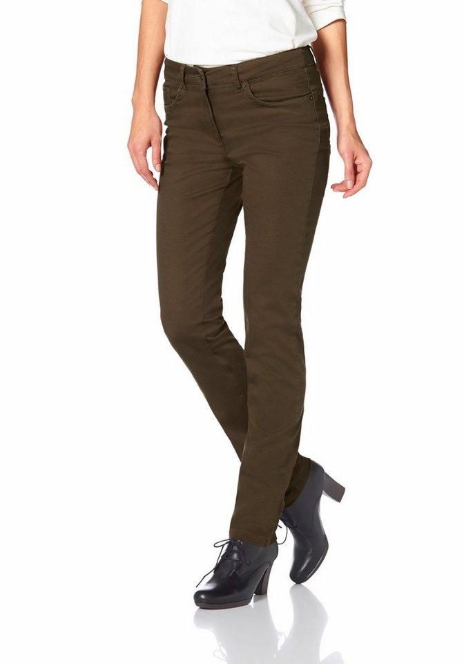 Cheer 5-Pocket-Hose mit komfortabler Leibhöhe in khaki