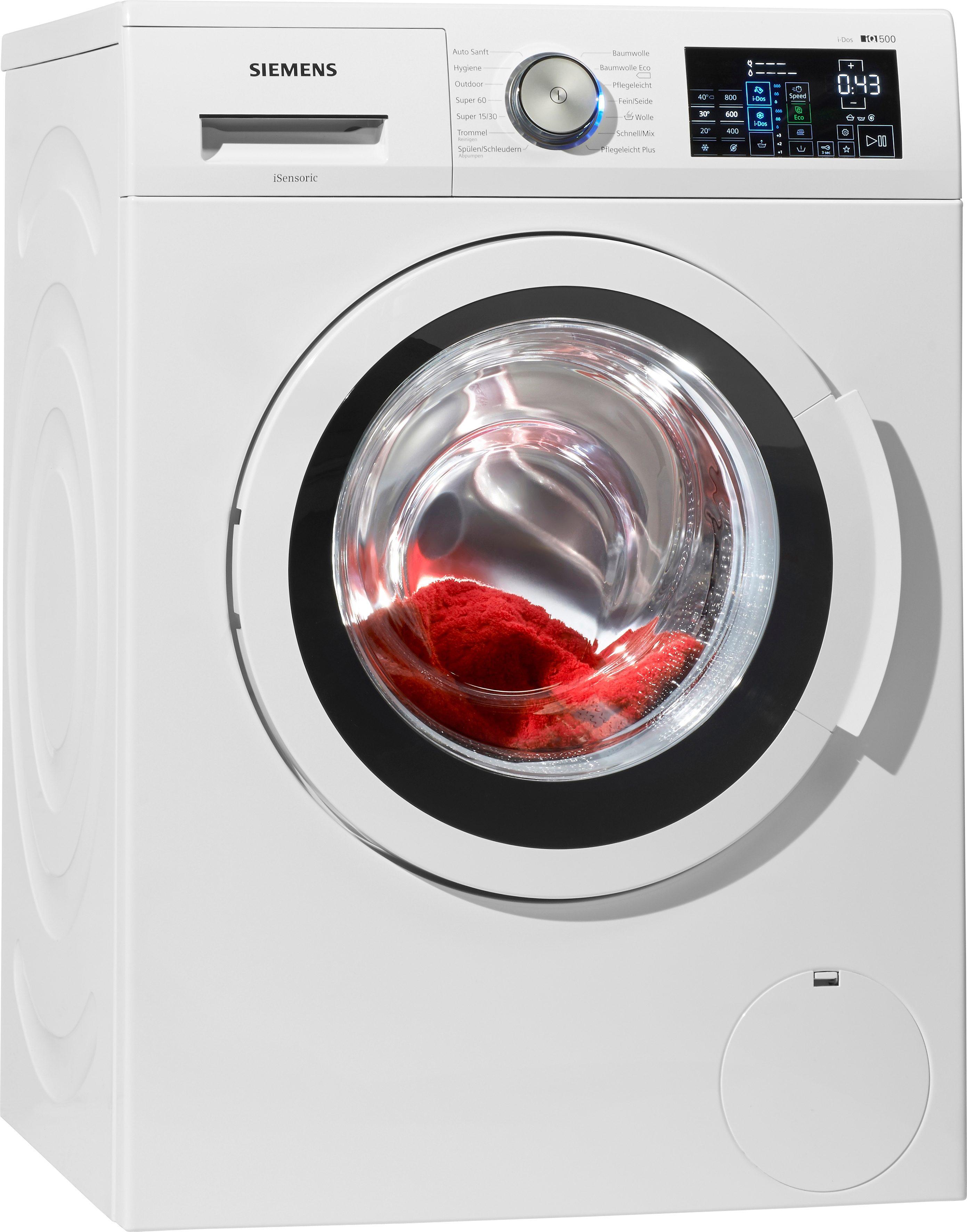SIEMENS Waschmaschine iQ500 WM14T641 i-Dos, A+++, 8 kg, 1400 U/Min