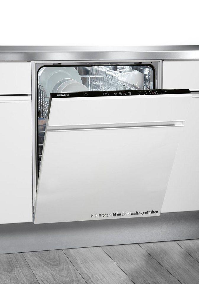 Siemens Vollintegrierbarer Geschirrspüler SN64D002EU, A+, 14 Liter, für 12 Maßgedecke in schwarz