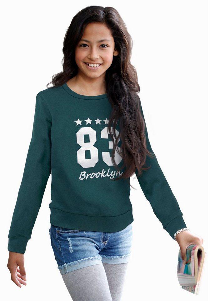 CFL Sweatshirt mit coolem Frontdruck in petrol