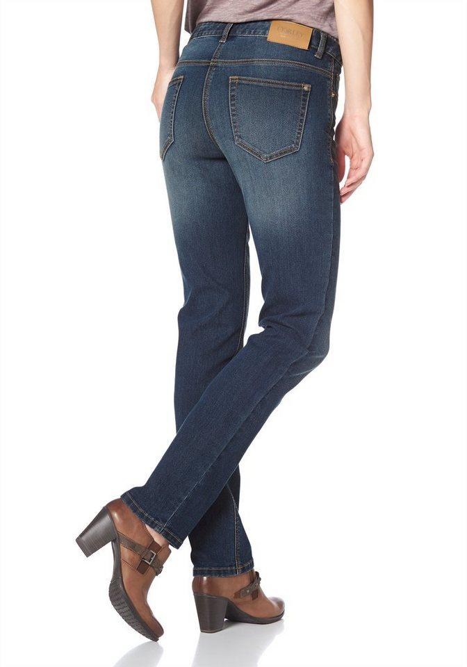Corley 5-Pocket-Jeans mit leichten Abriebeffekten in darkblue