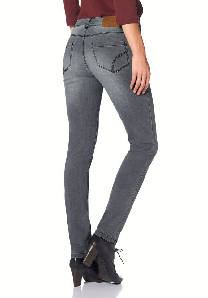 Cheer 5-Pocket-Jeans »Pia« im 5-Pocket-Style in grey-used