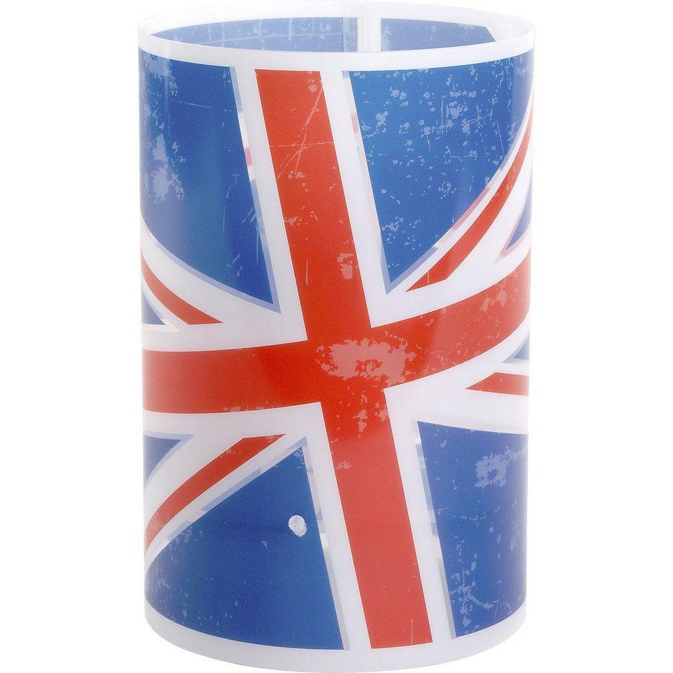 Dalber Tischlampe Union Jack, blau/rot in blau