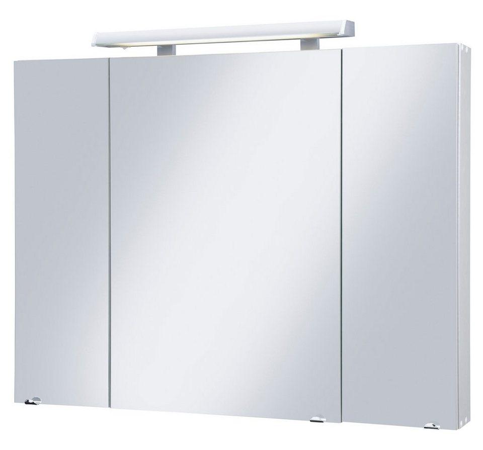 Spiegelschrank »Livorno« Breite 105 cm, mit LED-Beleuchtung in silberfarben