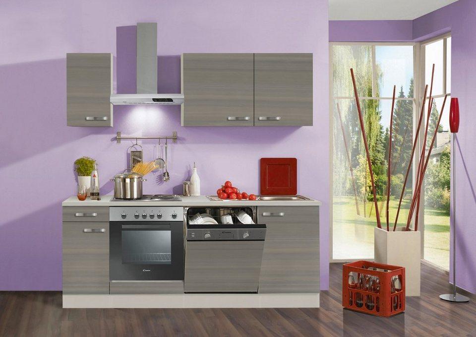 Küchenzeile mit E Geräten Vigo Breite 210 cm