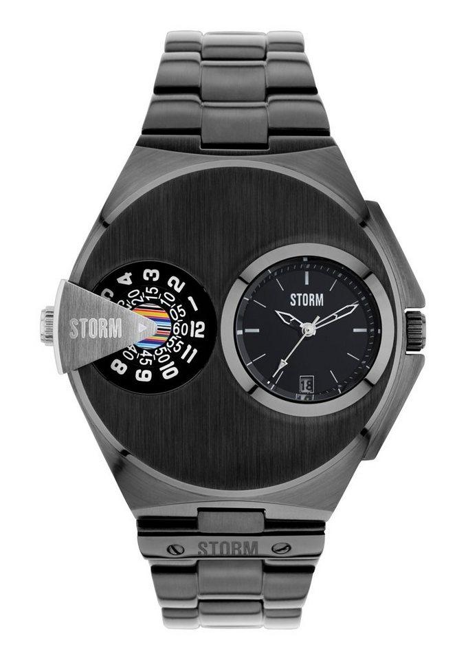 "STORM, Armbanduhr, ""Dualmatic Slate, 47247/SL"" in schwarz"
