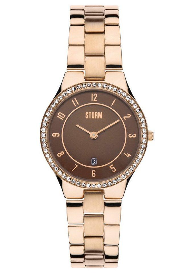 "STORM, Armbanduhr, ""Slim-X Crystal Rosegold, 47189/RG"" in roségoldfarben"