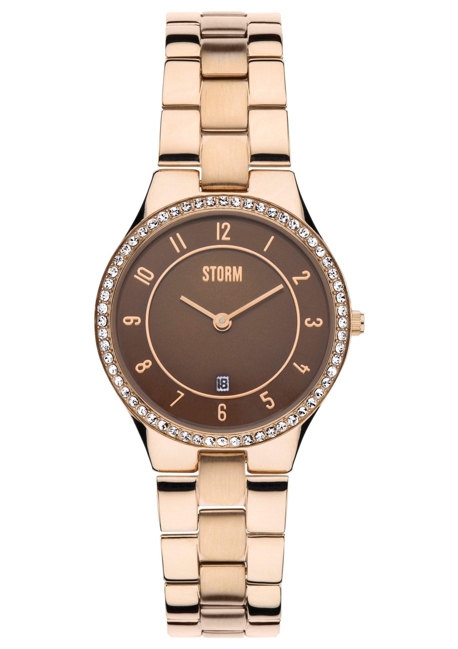 "STORM, Armbanduhr, ""Slim-X Crystal Rosegold, 47189/RG"""