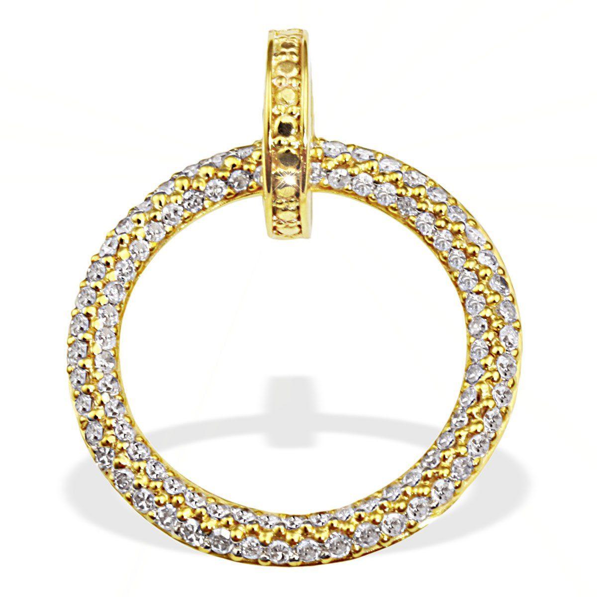 goldmaid Anhänger Gelbgold 585/- Diamanten Pavee