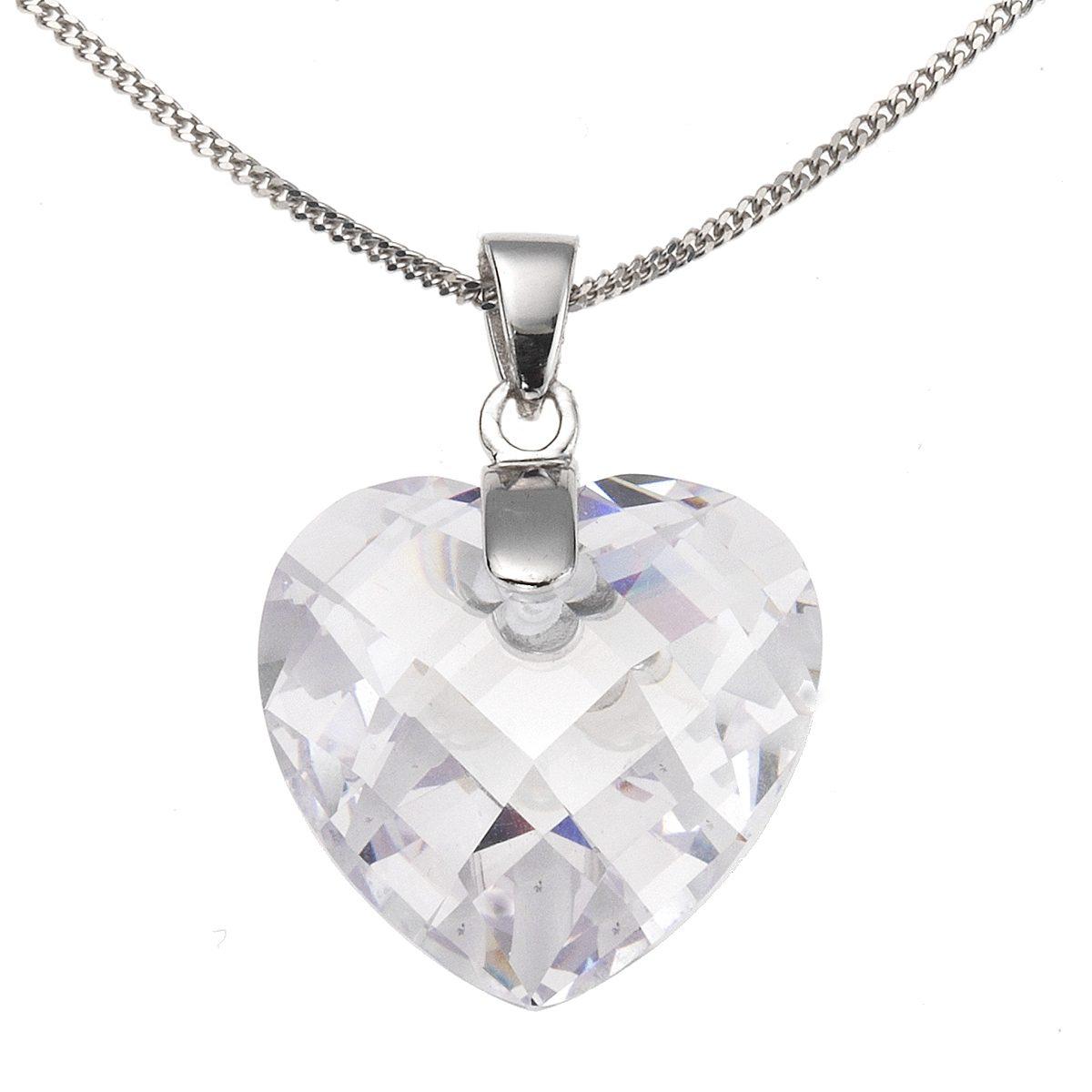 Zeeme Anhänger mit Kette »925/- Sterling Silber Zirkonia Herz«