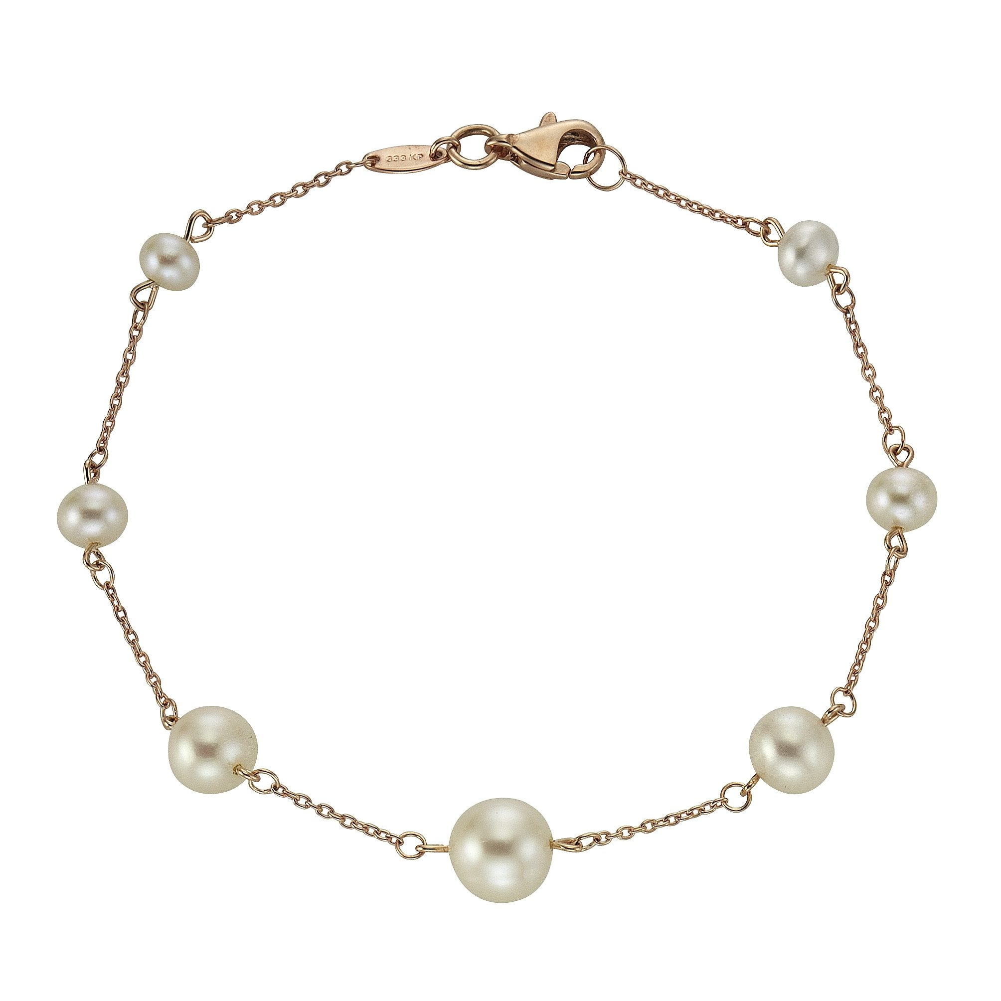 Fascination by Ellen K. Armband »333/- Rotgold Perle weiß«