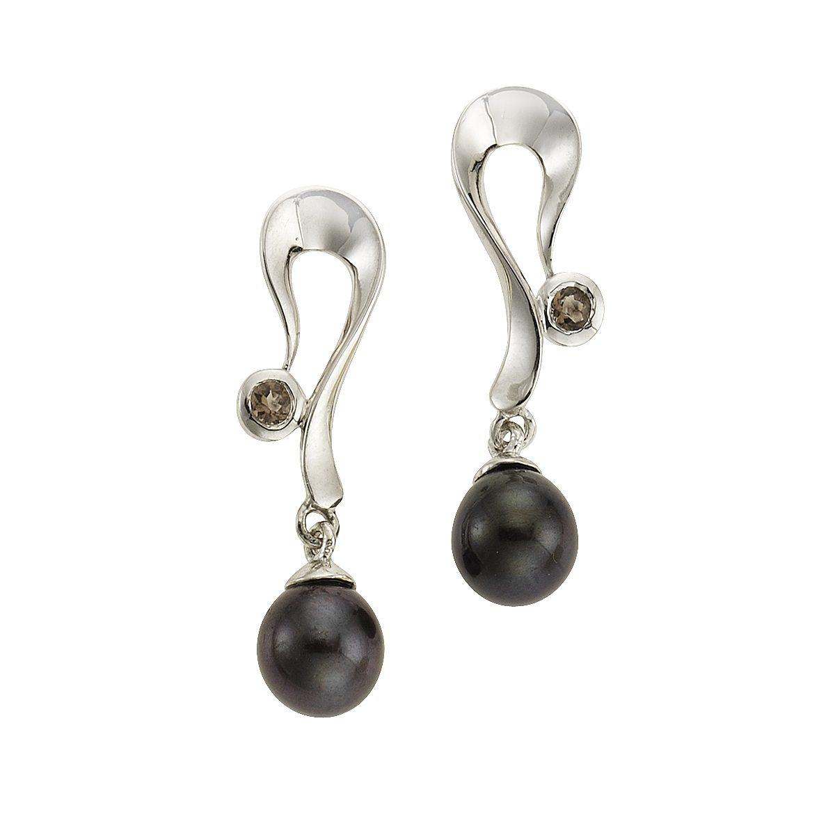 Zeeme Ohrhänger »925/- Sterling Silber Perle«