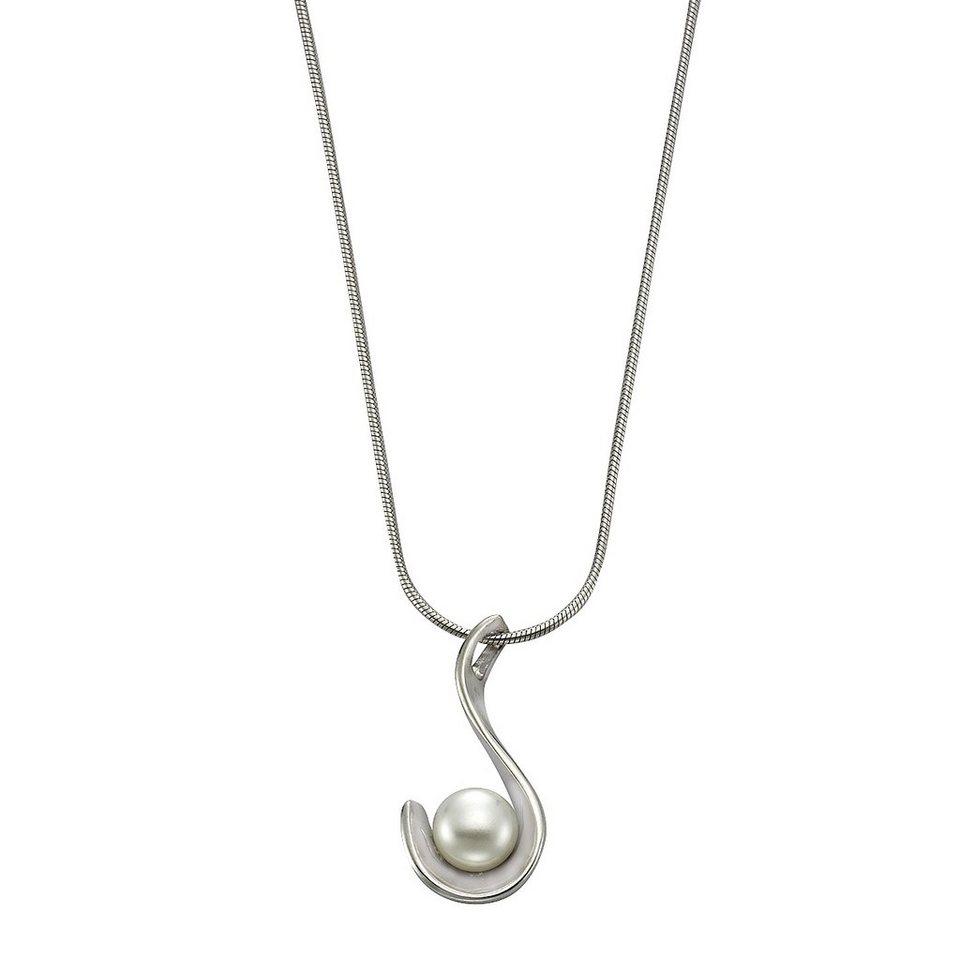 Zeeme Anhänger mit Kette »925/- Sterling Silber Perle weiß« in weiß