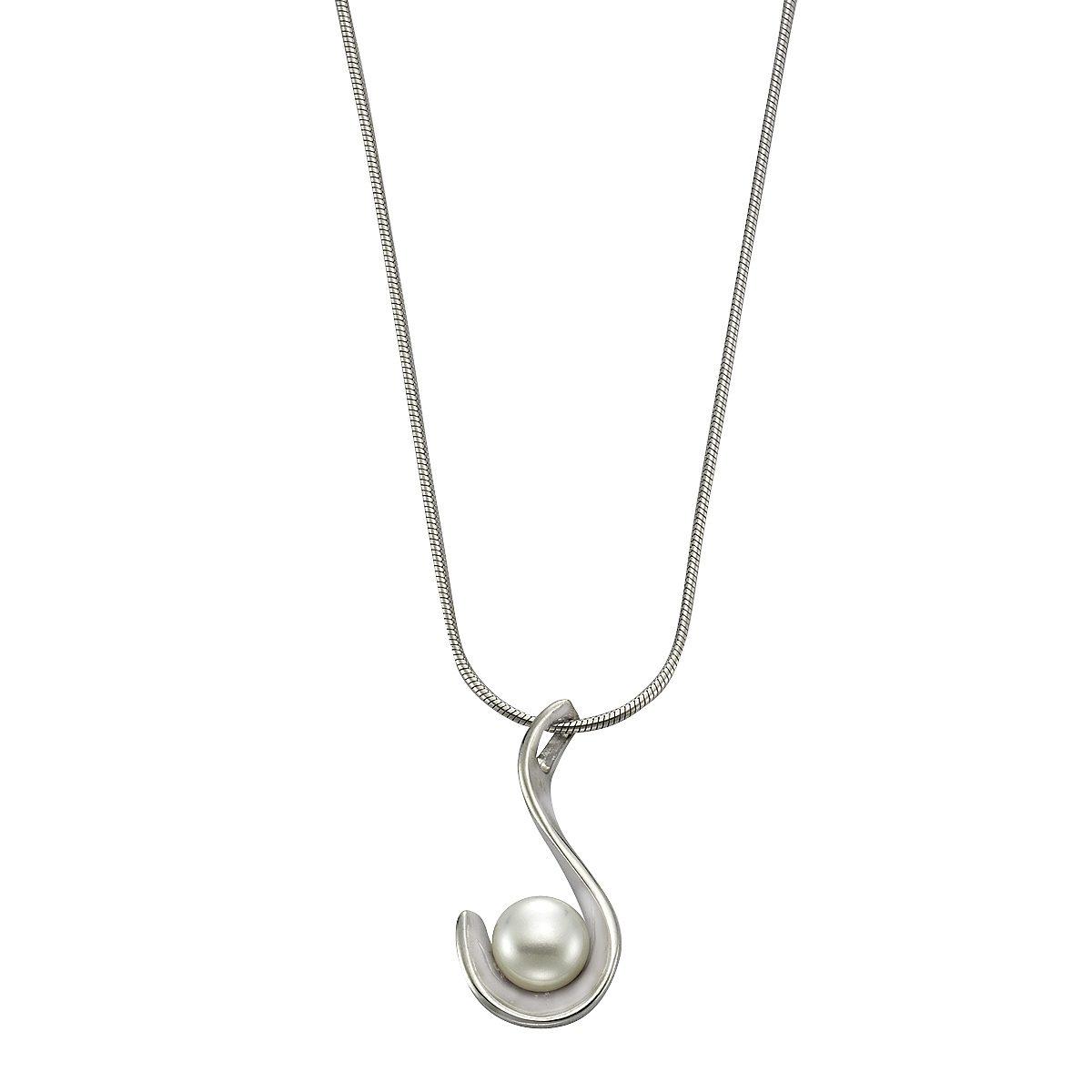 Zeeme Anhänger mit Kette »925/- Sterling Silber Perle weiß«