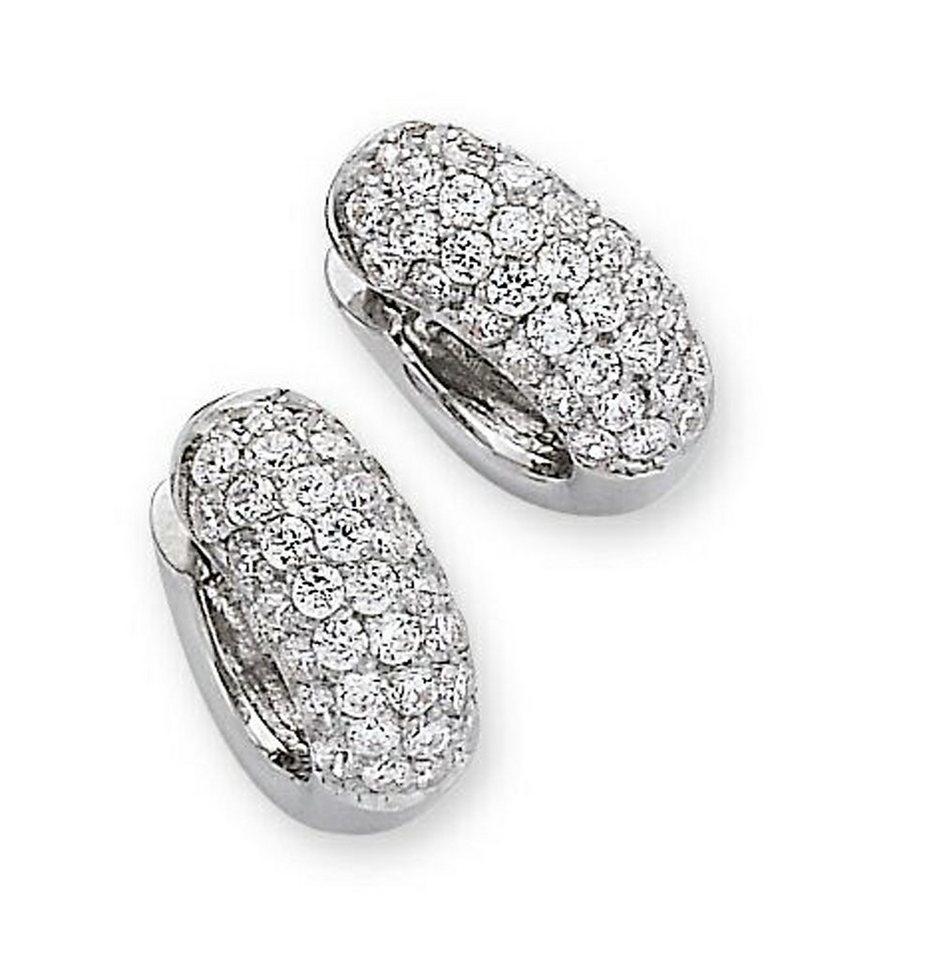 CELESTA Creolen »925/- Sterling Silber« in weiß
