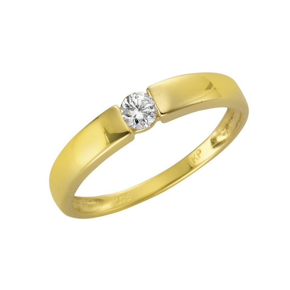 Fascination by Ellen K. Ring »375/- Gelbgold Zirkonia« in gelb