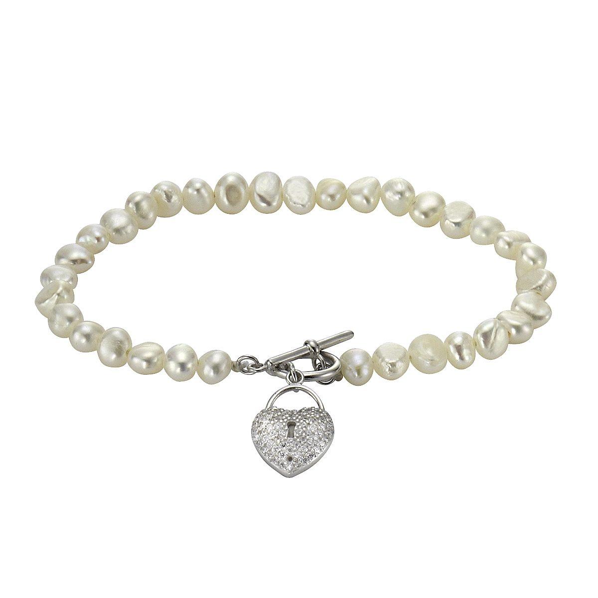 Zeeme Armband »925/- Sterling Silber Perle Zirkonia«