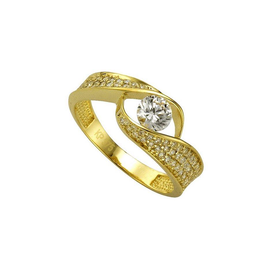 CELESTA Ring »375/- Gelbgold Zirkonia« in gelb