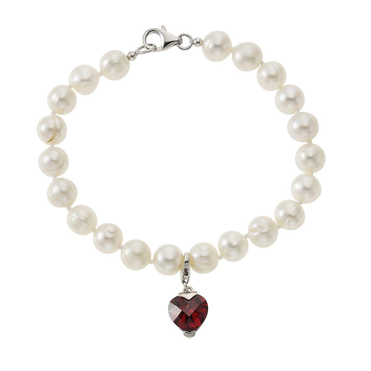Zeeme Armband »925/- Sterling Silber Perle weiß Zirkonia«