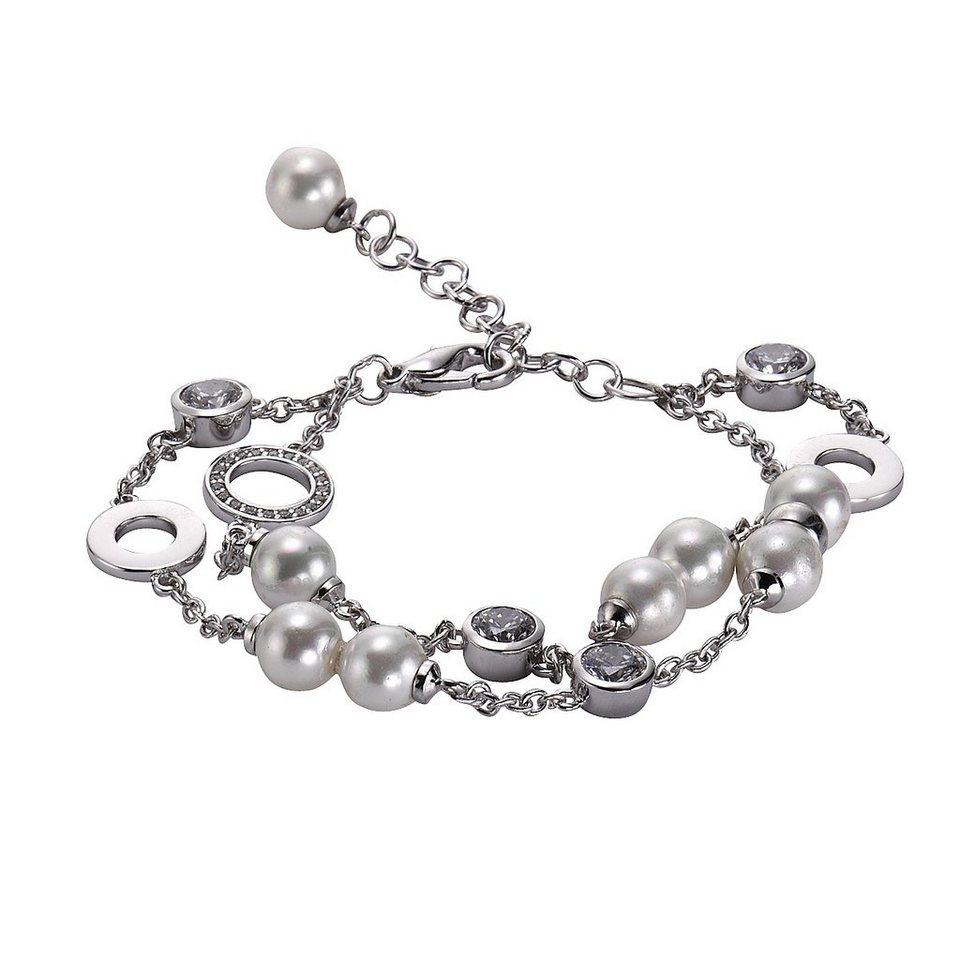 Zeeme Armband »Messing Muschelkernperle weiß« in weiß