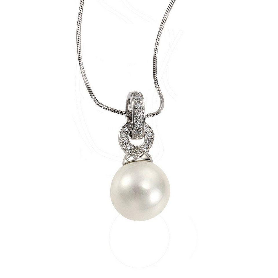 Zeeme Anhänger mit Kette »925/- Sterling Silber Perle« in weiß