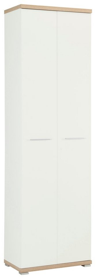 Garderobenschrank »Top« in weiß-eichefarben