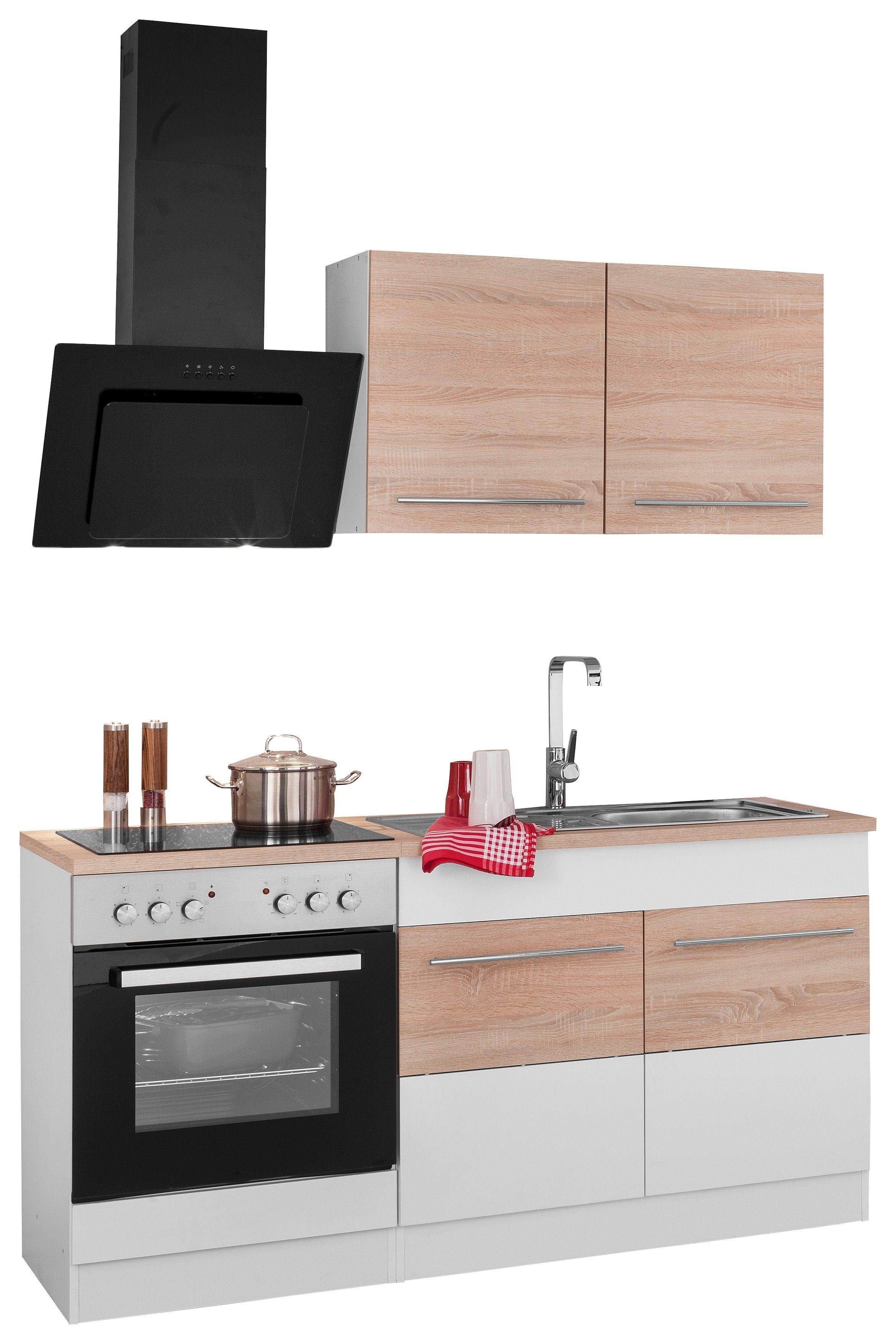 HELD MÖBEL Küchenzeile mit E-Geräten »Trient«, Breite 160 cm