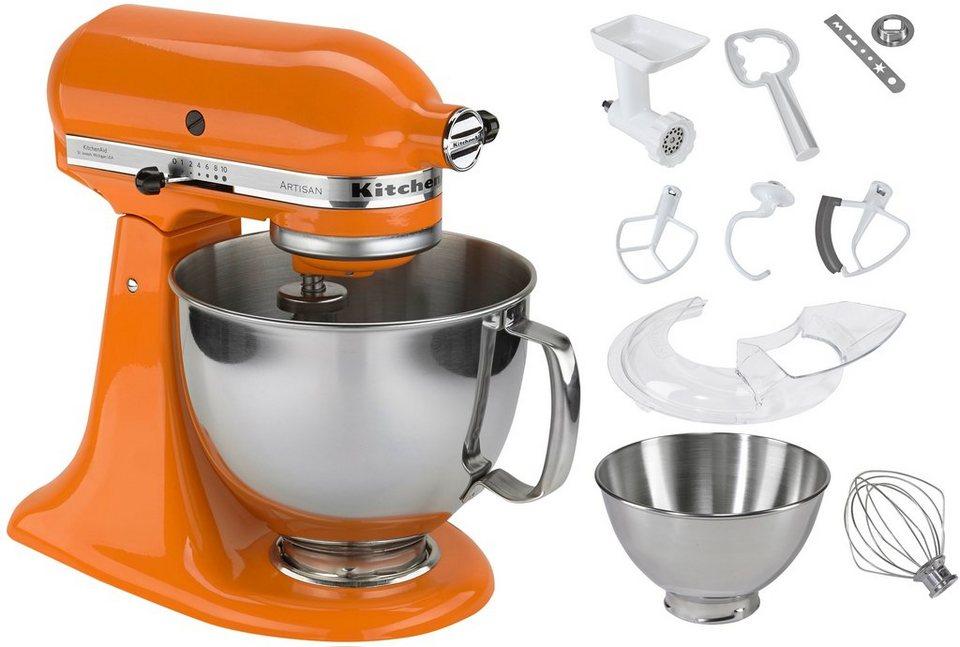 KitchenAid® Küchenmaschine 5KSM150PSETG »Artisan«, inkl. Sonderzubehör im Wert von ca. 214,-€ in orange