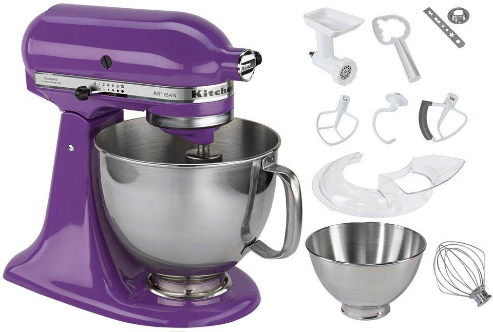 KitchenAid Küchenmaschine Artisan, mit Sonderzubehör im Wert von ca. 214,-€, lila in lila