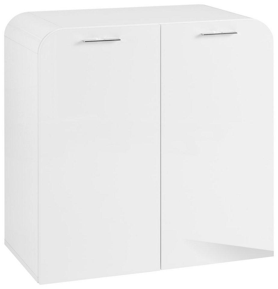 Kommode »Curvo« Breite 76, 5 cm in weiß-weiß