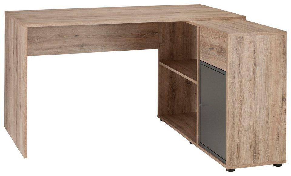 Schildmeyer Schreibtisch »Korpio« in wildeichefb.-basaltgrau