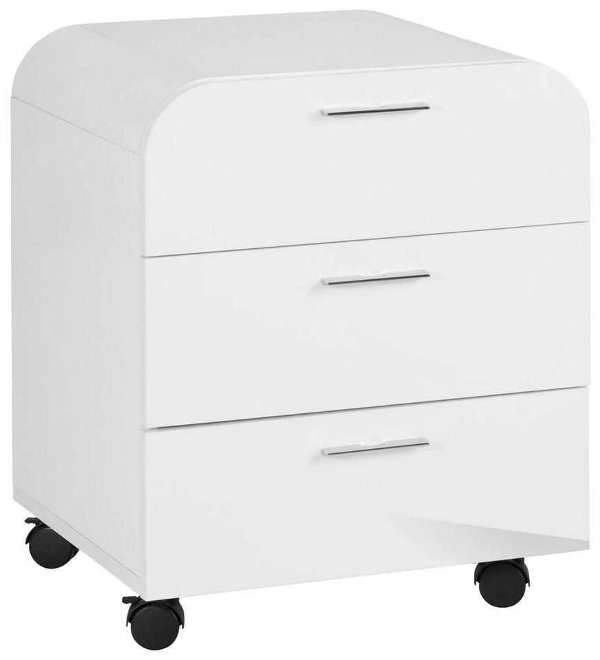 Rollcontainer »Curvo« in weiß-weiß