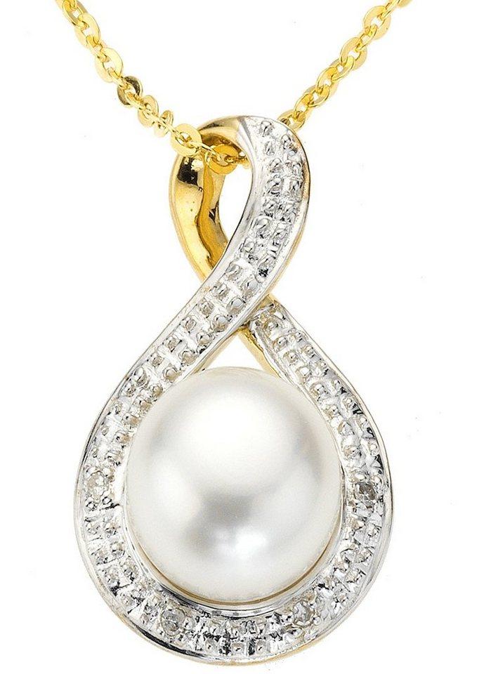 Vivance Jewels Anhänger in Gelbgold 333/bicolor/weiß