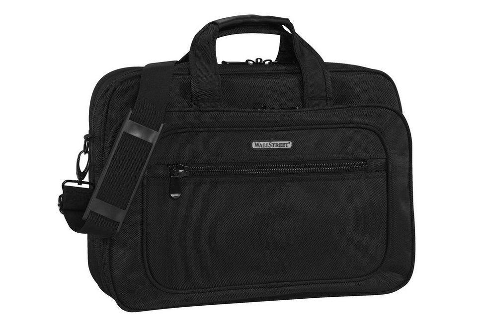 Businesstasche-Umhängetasche mit Laptopfach bis 15,6-Zoll, »Wallstreet Business Bag« in schwarz
