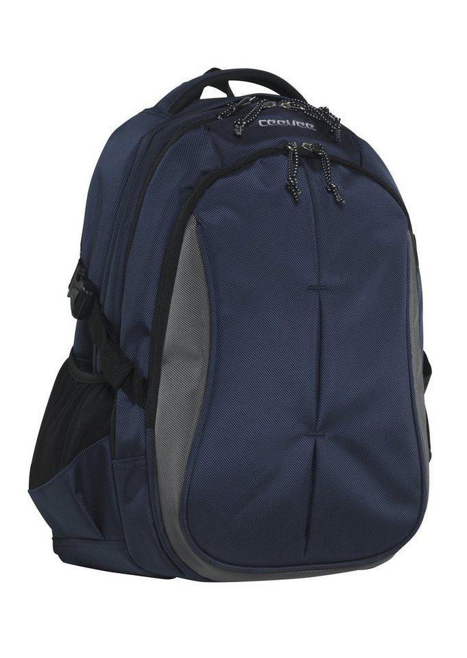 ceevee® Business Rucksack mit Laptopfach 15-Zoll, »Seattle, blau« in blau
