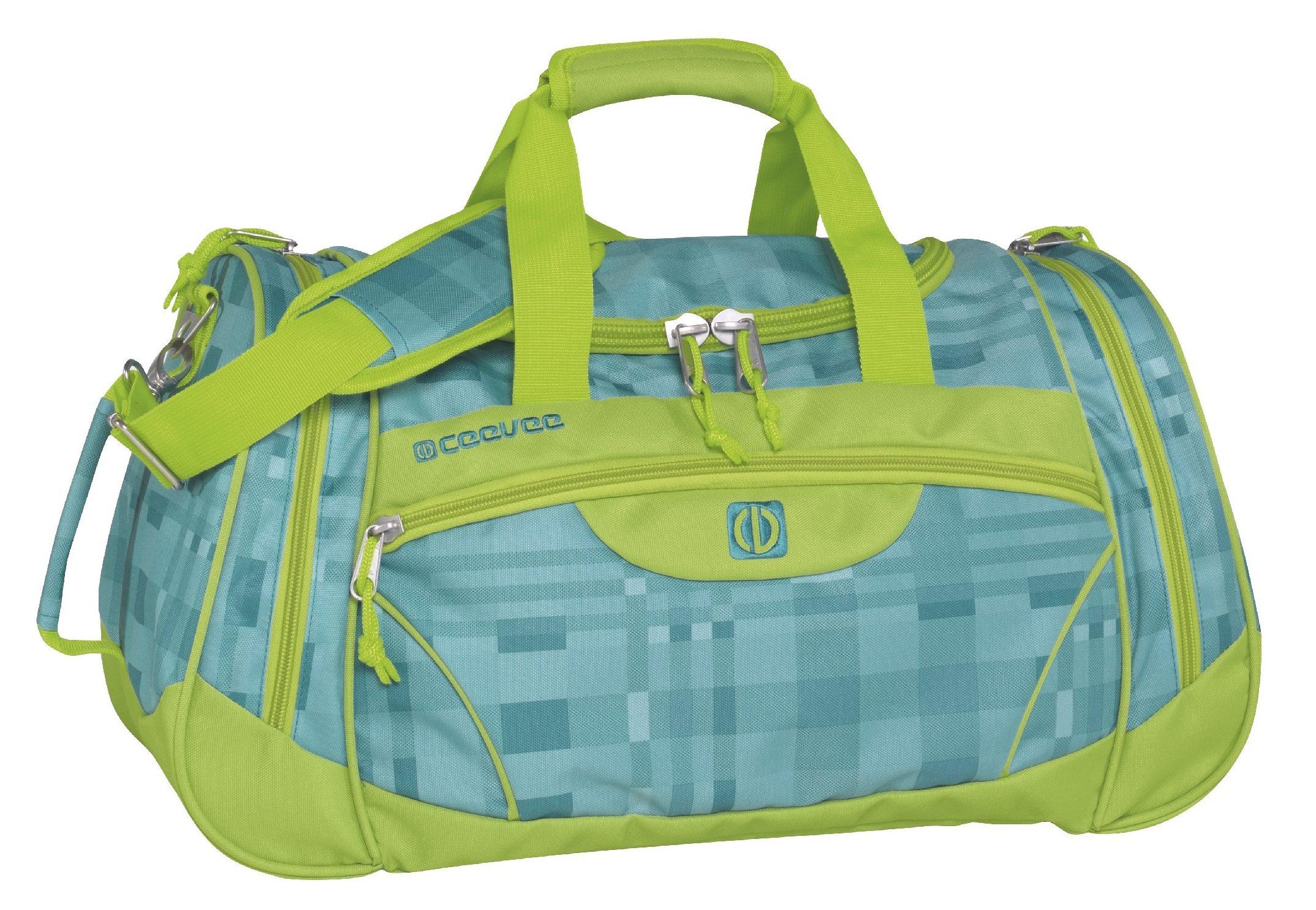 ceevee® Freizeit- und Reisetasche, »York, türkis/grün«