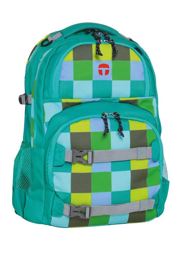 TAKE IT EASY® Größenverstellbarer Rucksack, »Oslo-Flex Chess« in grün