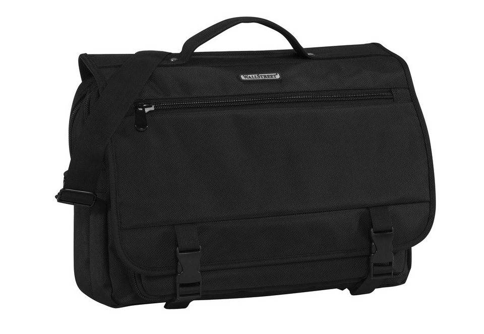 Businessaktentasche zum Umhängen mit Laptopfach, »Wallstreet Business Bag« in schwarz