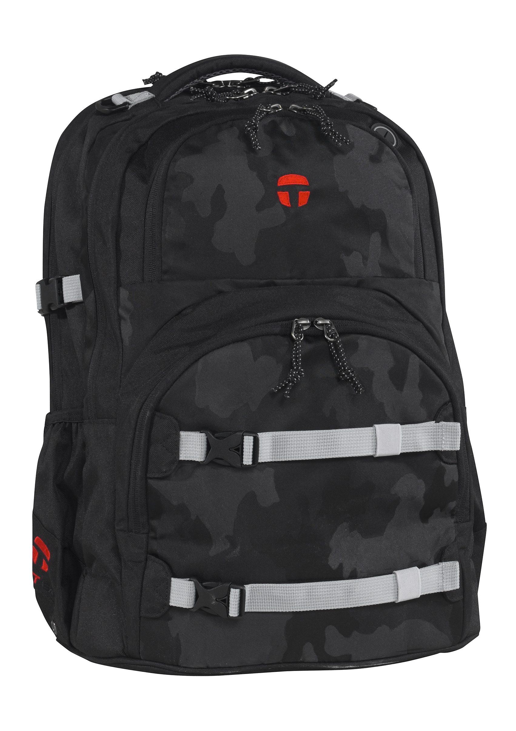 TAKE IT EASY® Größenverstellbarer Rucksack, »Oslo-Flex Camouflage Black«