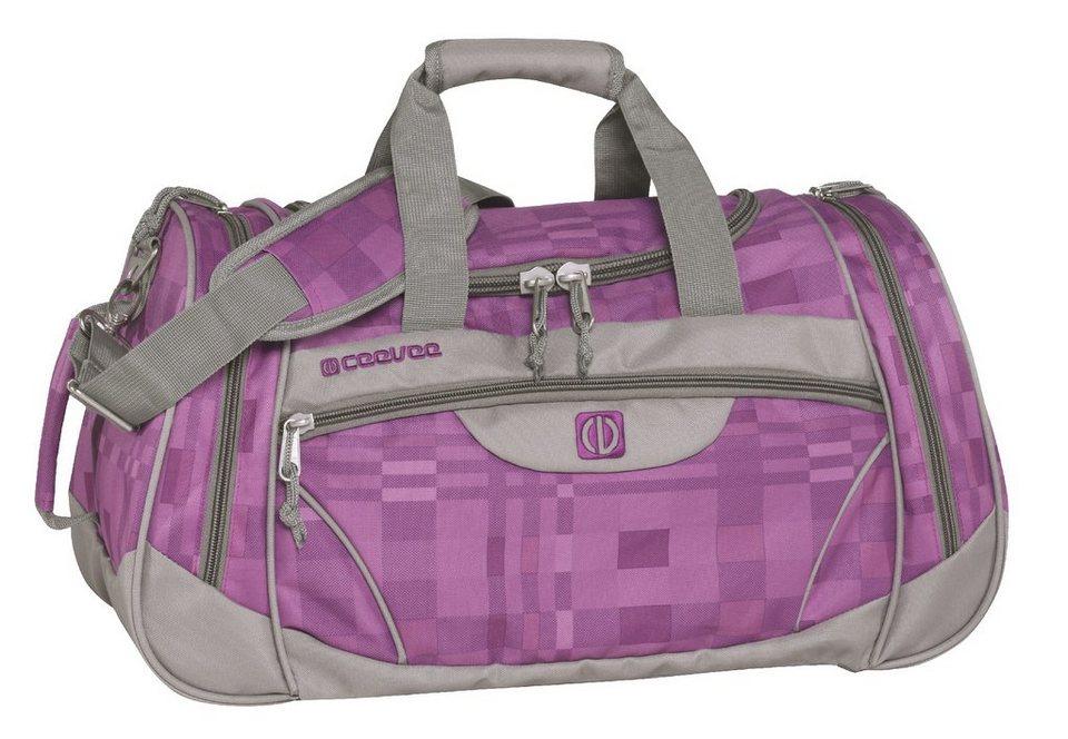ceevee® Freizeit- und Reisetasche, »Liverpool, lila/grau« in lila/grau