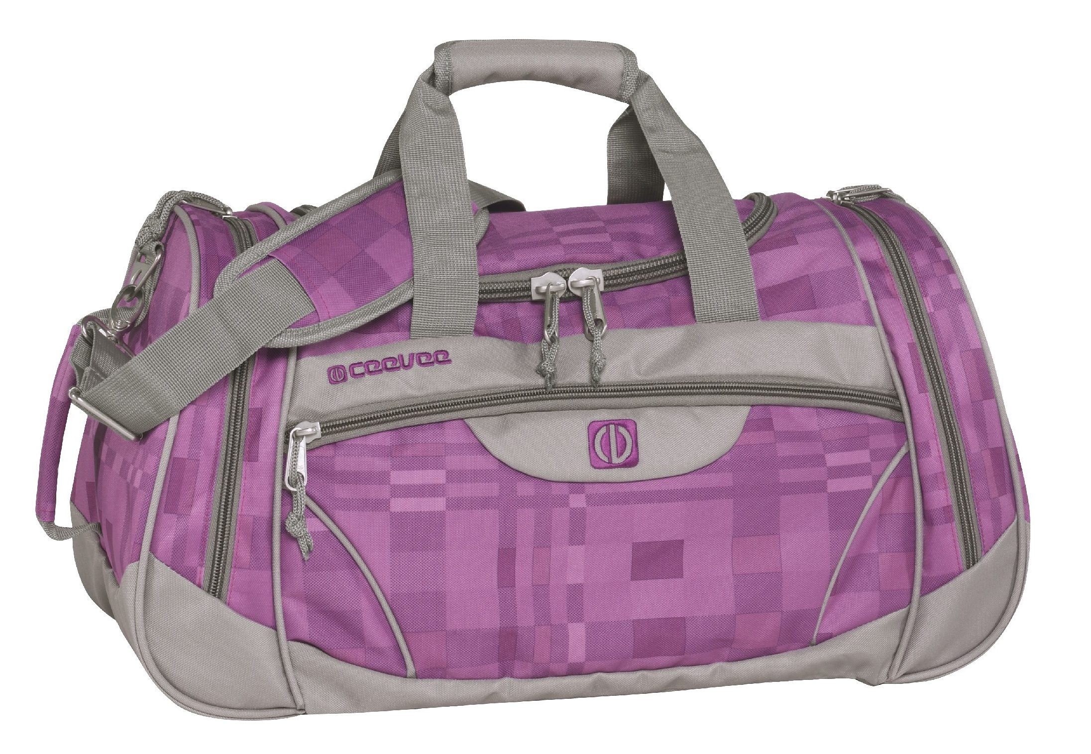 ceevee® Freizeit- und Reisetasche, »Liverpool, lila/grau«