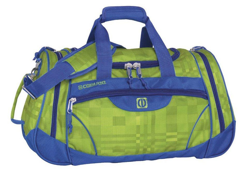 ceevee® Freizeit- und Reisetasche, »Liverpool, grün/blau« in grün/blau