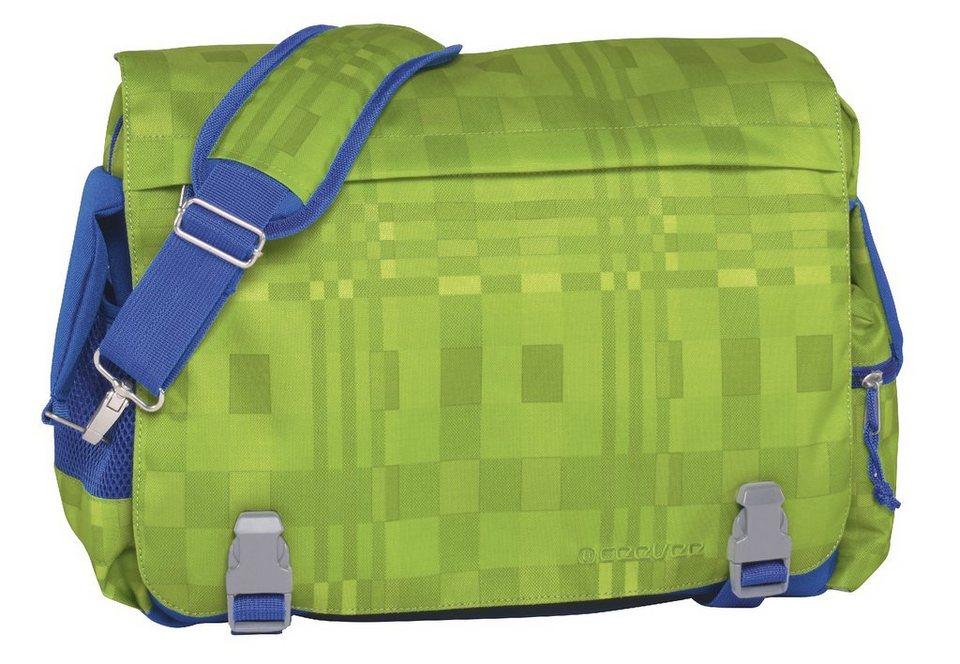 ceevee® Umhängetasche, »Manchester, grün/blau« in grün/blau