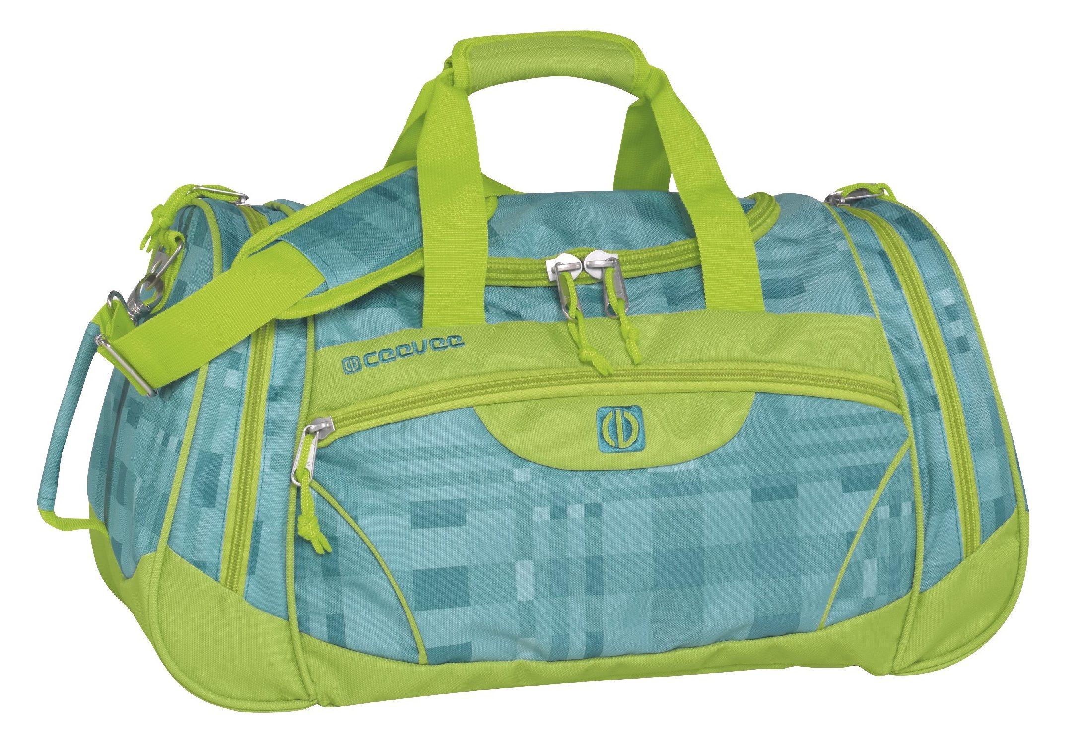 ceevee® Freizeit- und Reisetasche, »Liverpool, türkis/grün«