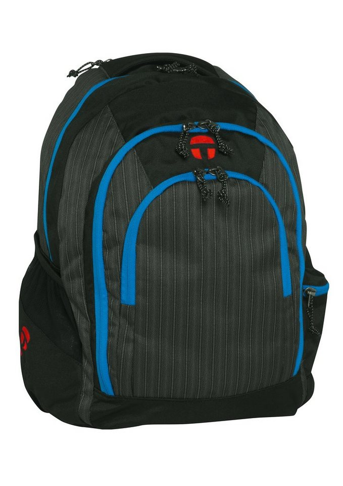 TAKE IT EASY® Rucksack, »Berlin,Tweed« in schwarz/blau